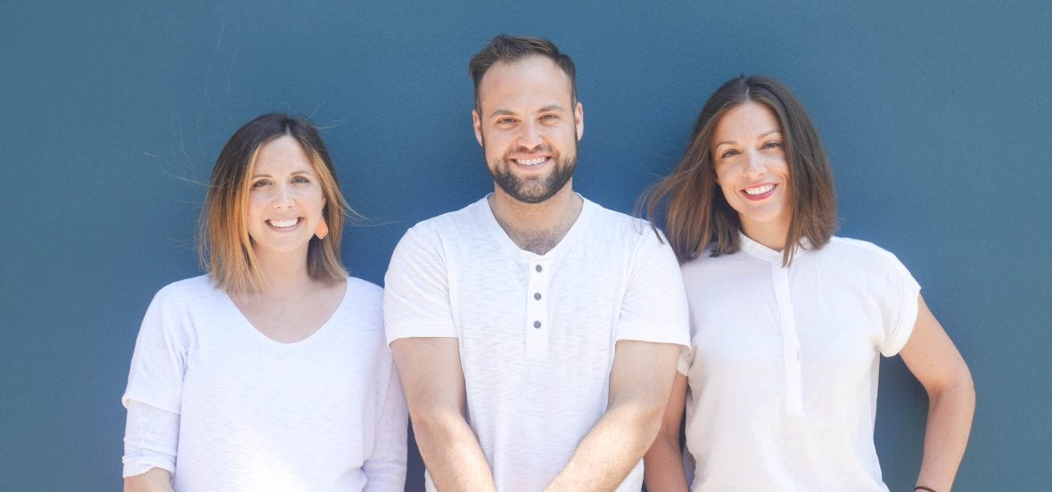 Co-Founders of Eat Pak'd, the first recipient of NUseeds funding. Rebecca Sholiton KSM '16, Nathan Cooper KSM '17, and Kara O'Dempsey.