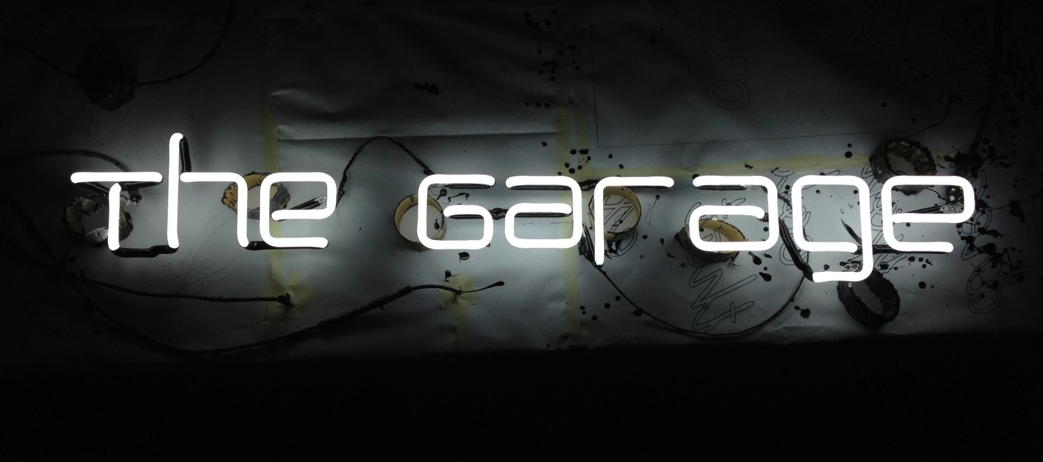 The Garage neon sign