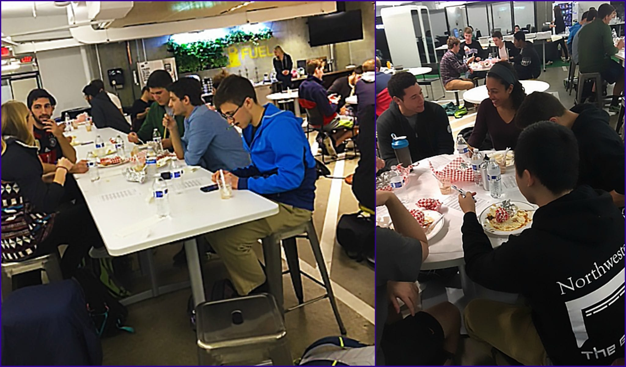 Image of students eating during Family Dinner