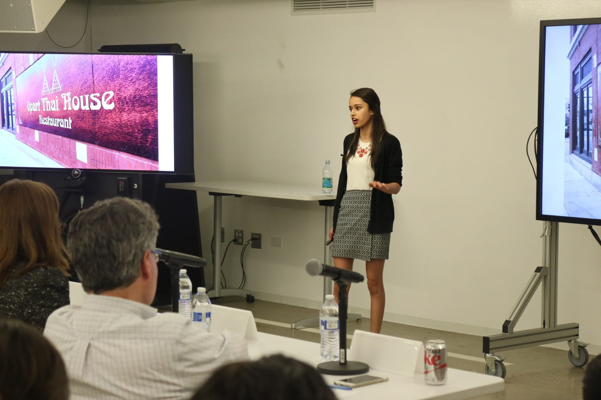 Image of a student presenting during Demo Day