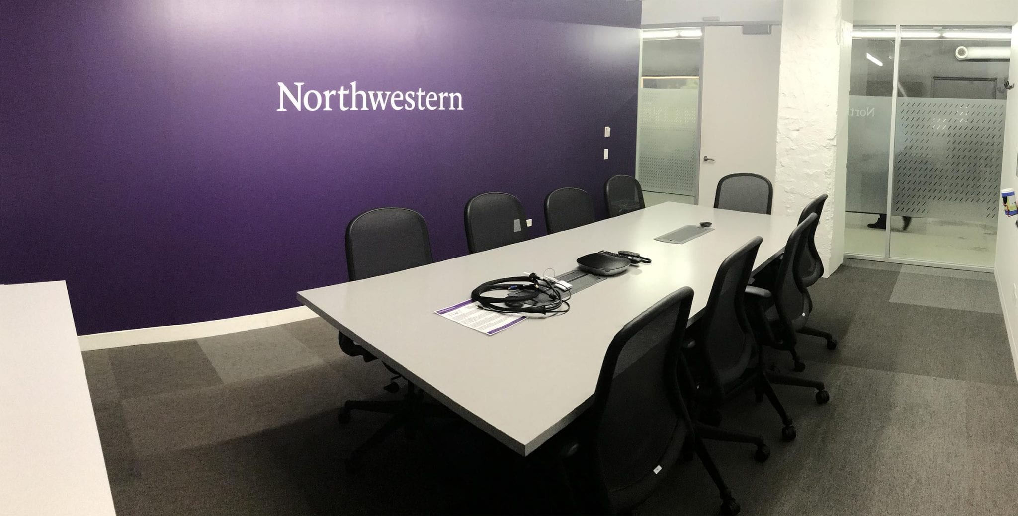 Image of the Northwestern conference room at 1871