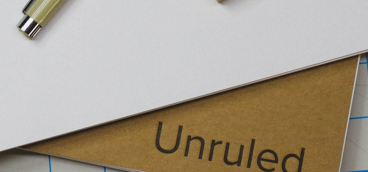 Image of an Unruled notebook